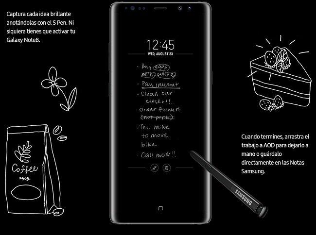 Samsung Galaxy Note 8 Ventajas