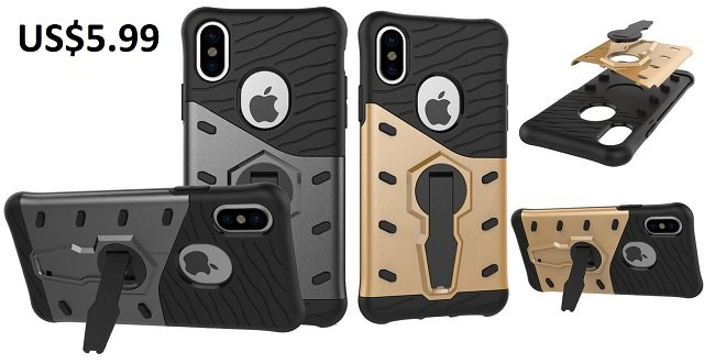 Armor Hybrid Color Rotating Kickstand Case For iPhone 8